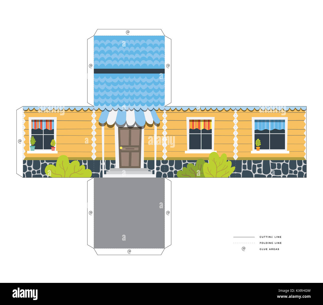 Paper Toy House Stock Photos & Paper Toy House Stock Images