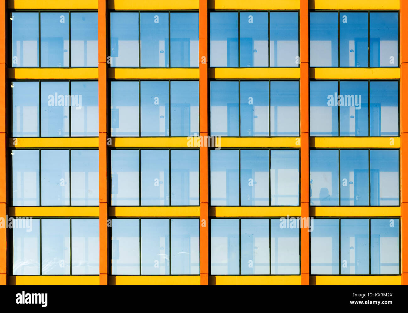 Graphic detail of a hotel building exterior. - Stock Image