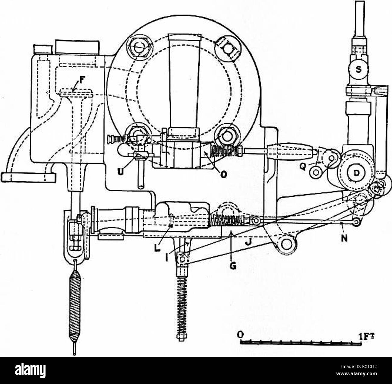 End Elevation of Otto Cycle Engine -