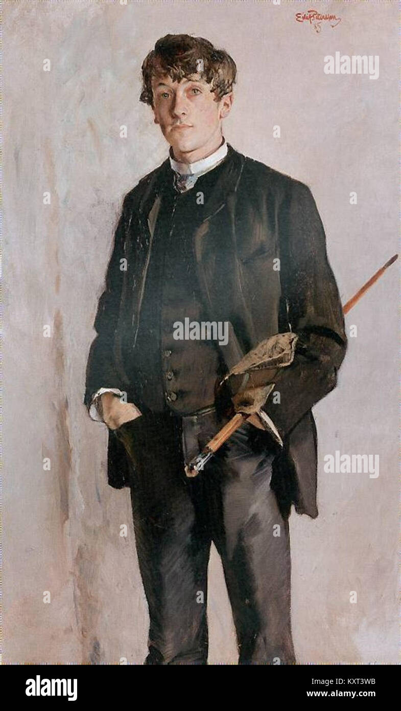Eilif Peterssen - Kalle Løchen, 1885 - Stock Image