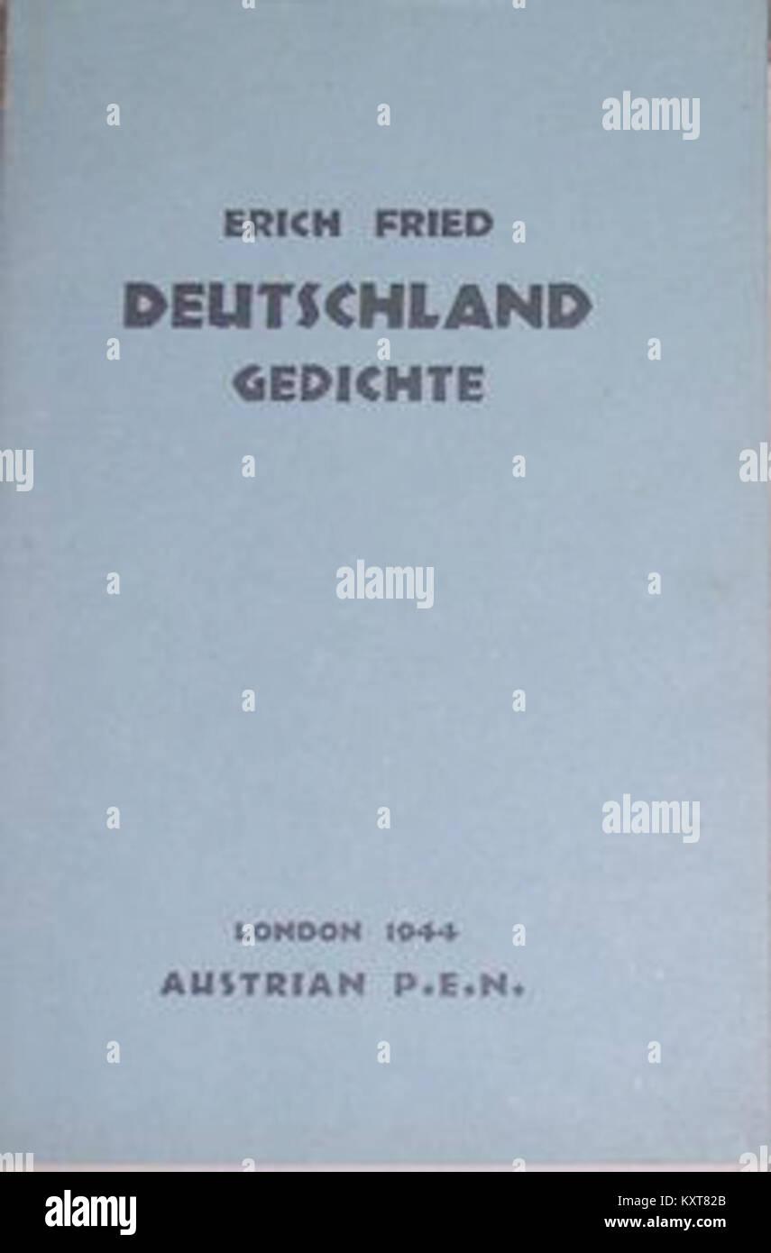 Erich Fried Deutschland 1944 Stock Photo 171407555 Alamy