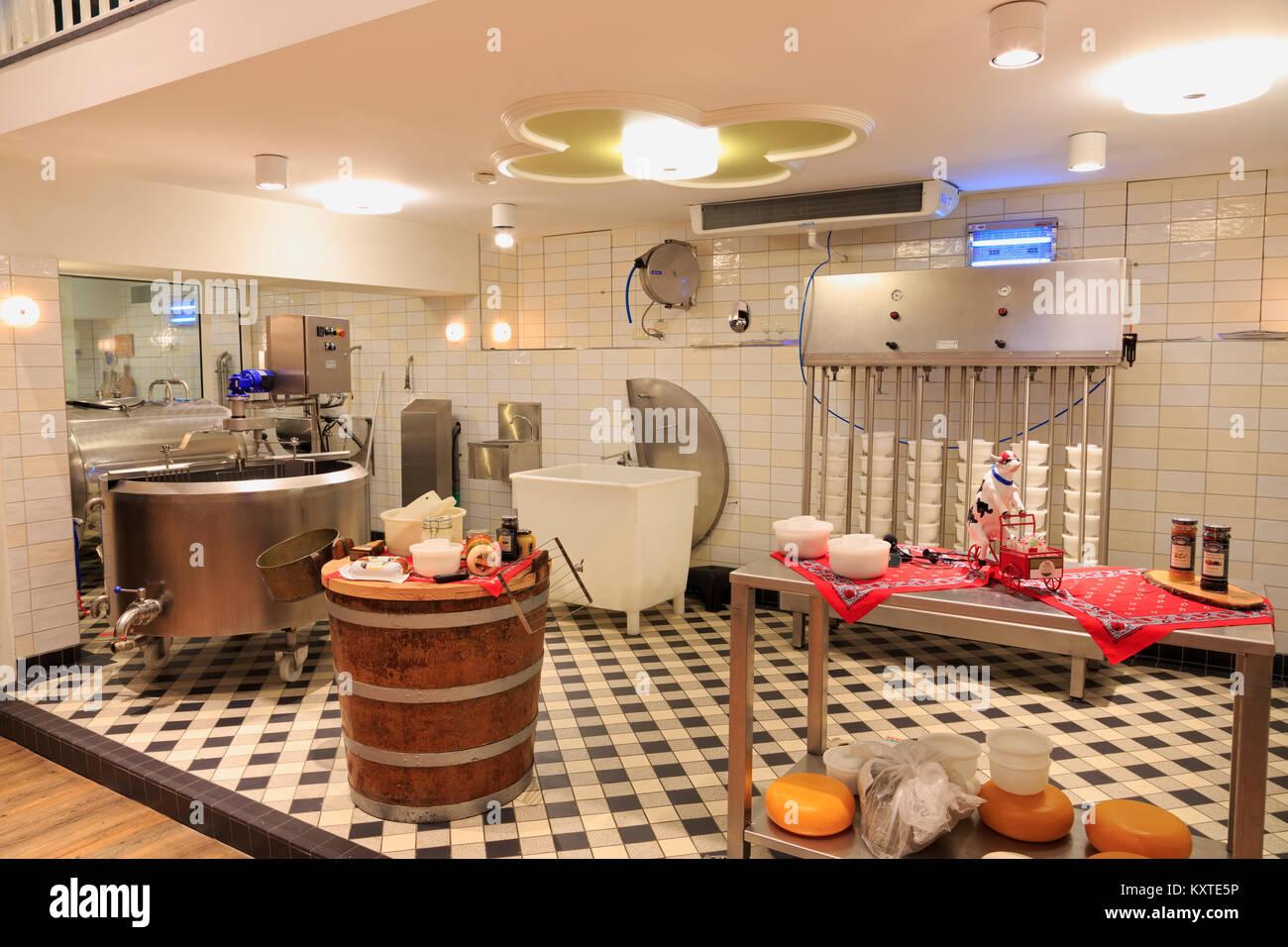 Cheese Factory, Volendam, North Holland, Netherlands, Europe - Stock Image
