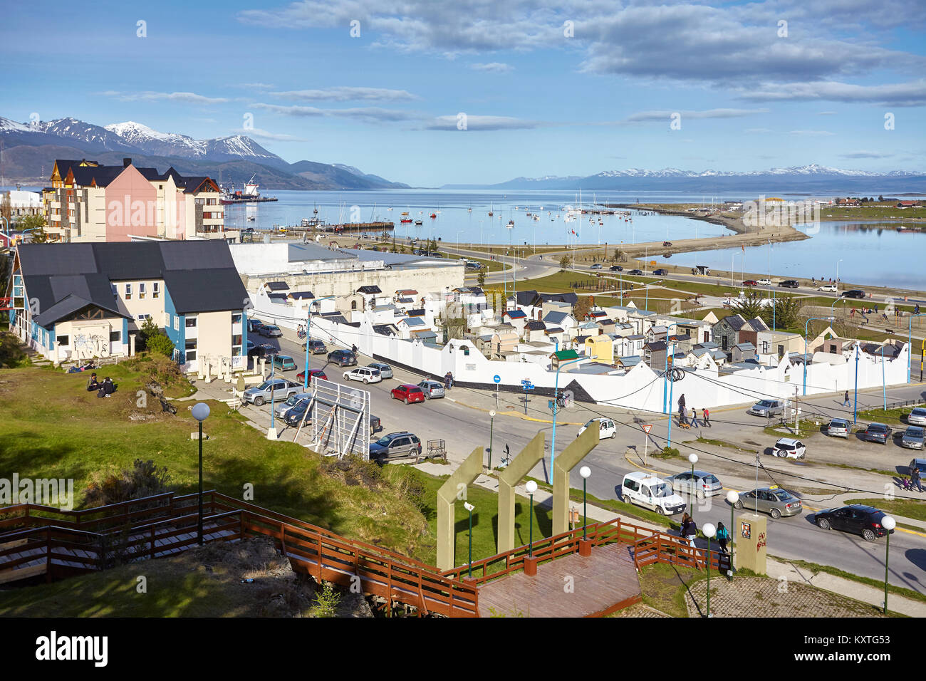 Ushuaia, Argentina - October 28, 2013: Old municipal cemetery located in downtown Ushuaia. - Stock Image