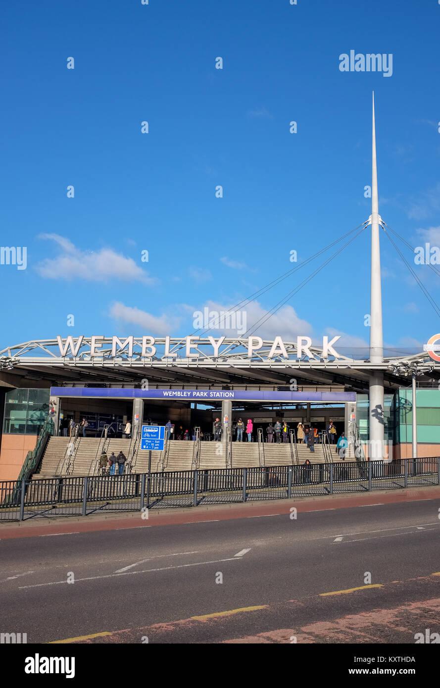 Wembley Park Underground Railway Station in London UK - Stock Image