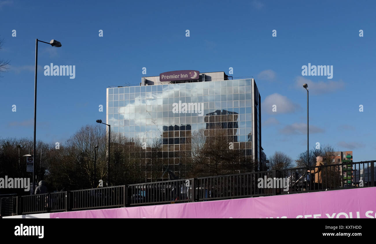Premier Inn Hotel at Wembley Park in North West London UK - Stock Image