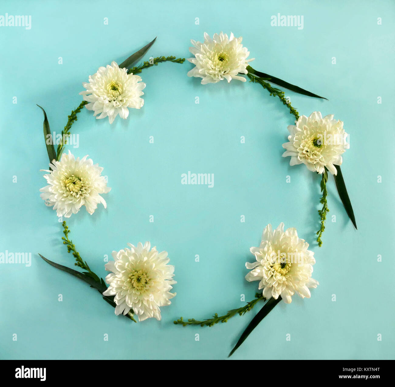 Crown Of Leaves On Top Of Flowers Stock Photos Crown Of Leaves On