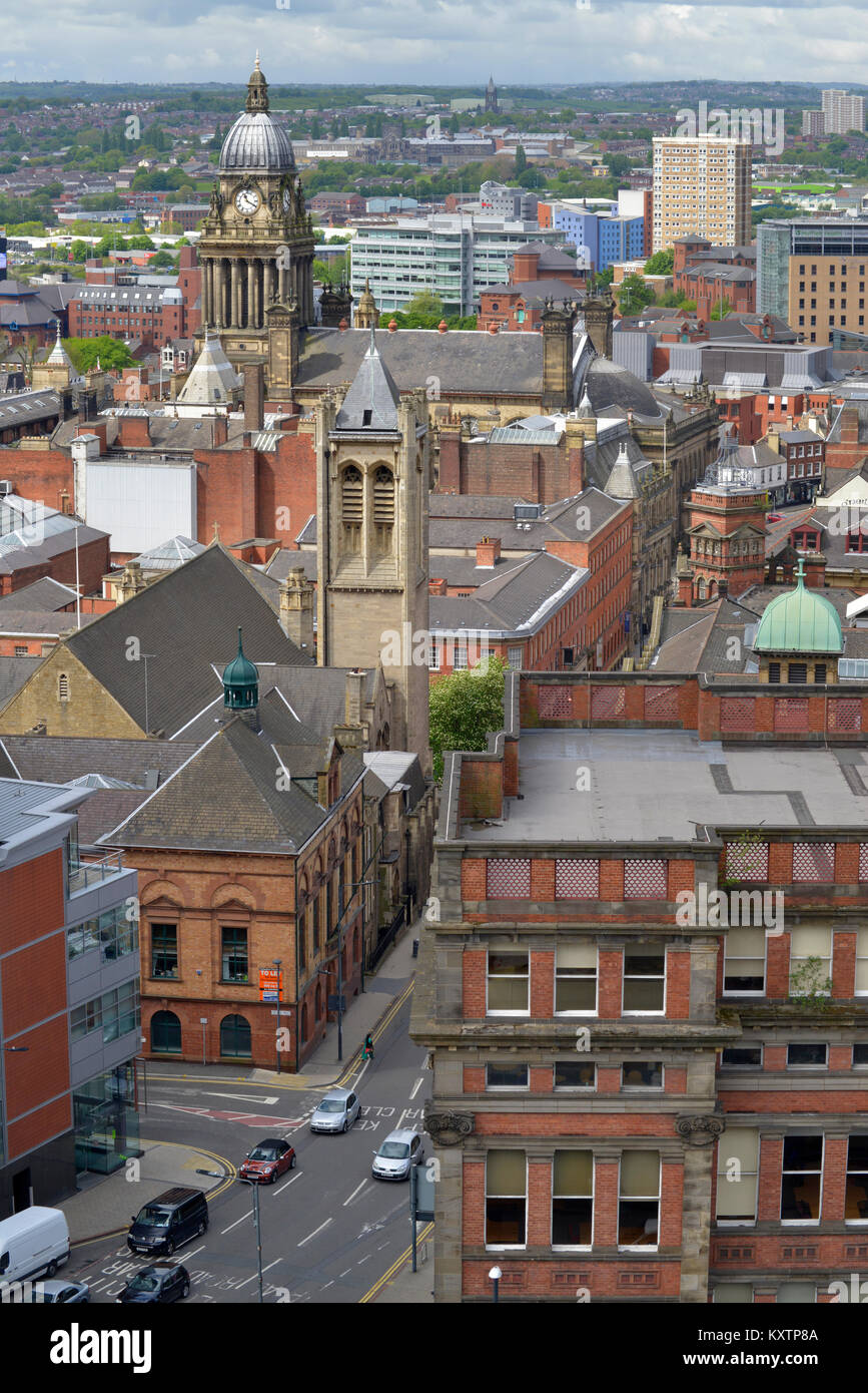 high angle view of leeds town built in 1858 designed by cuthbert brodrick  yorkshire united kingdom Stock Photo