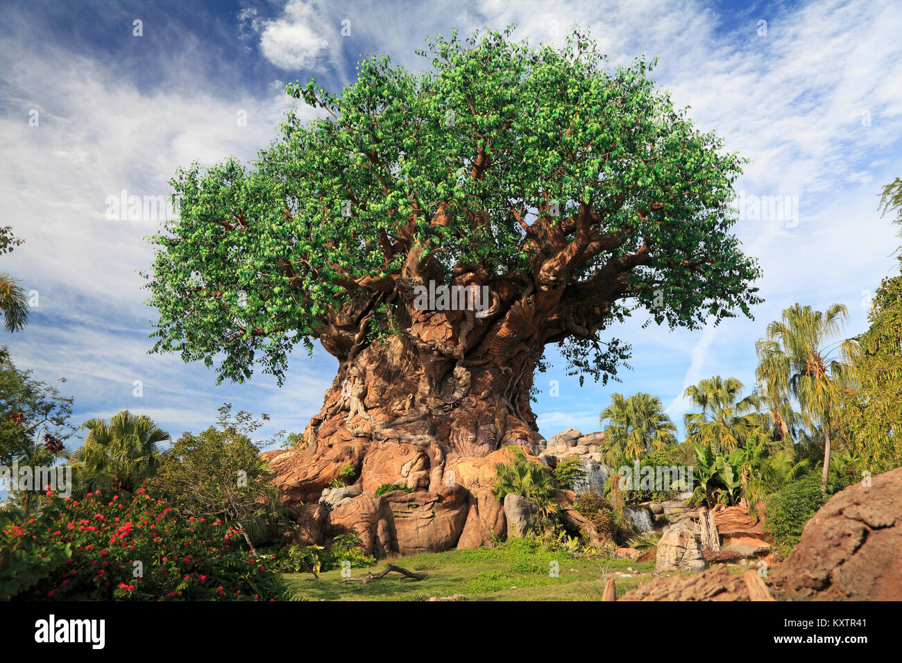 Tree of Life in Disney Animal Kingdom Theme Park, Orlando, Florida - Stock Image