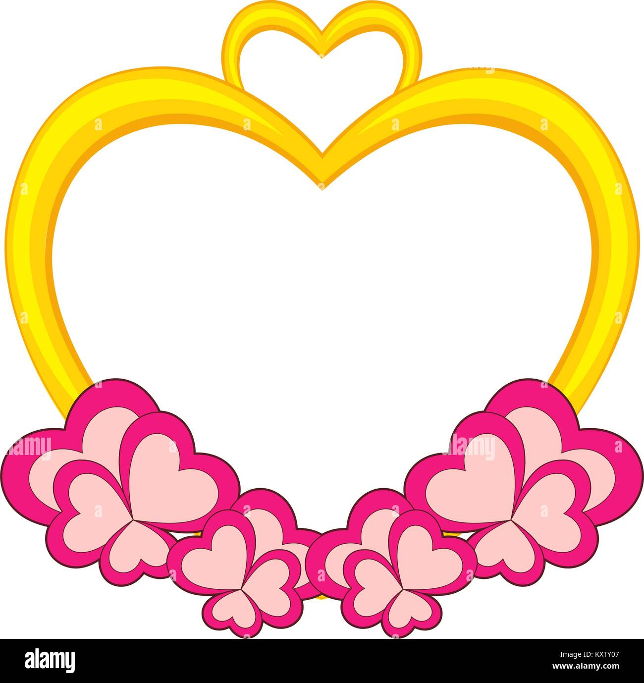 Heart shaped frame for valentine day card Stock Vector Art ...
