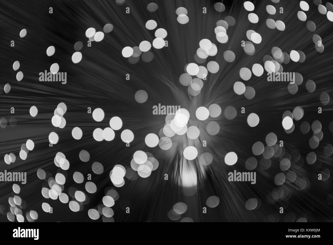 Abstract lights blurred background - Stock Image