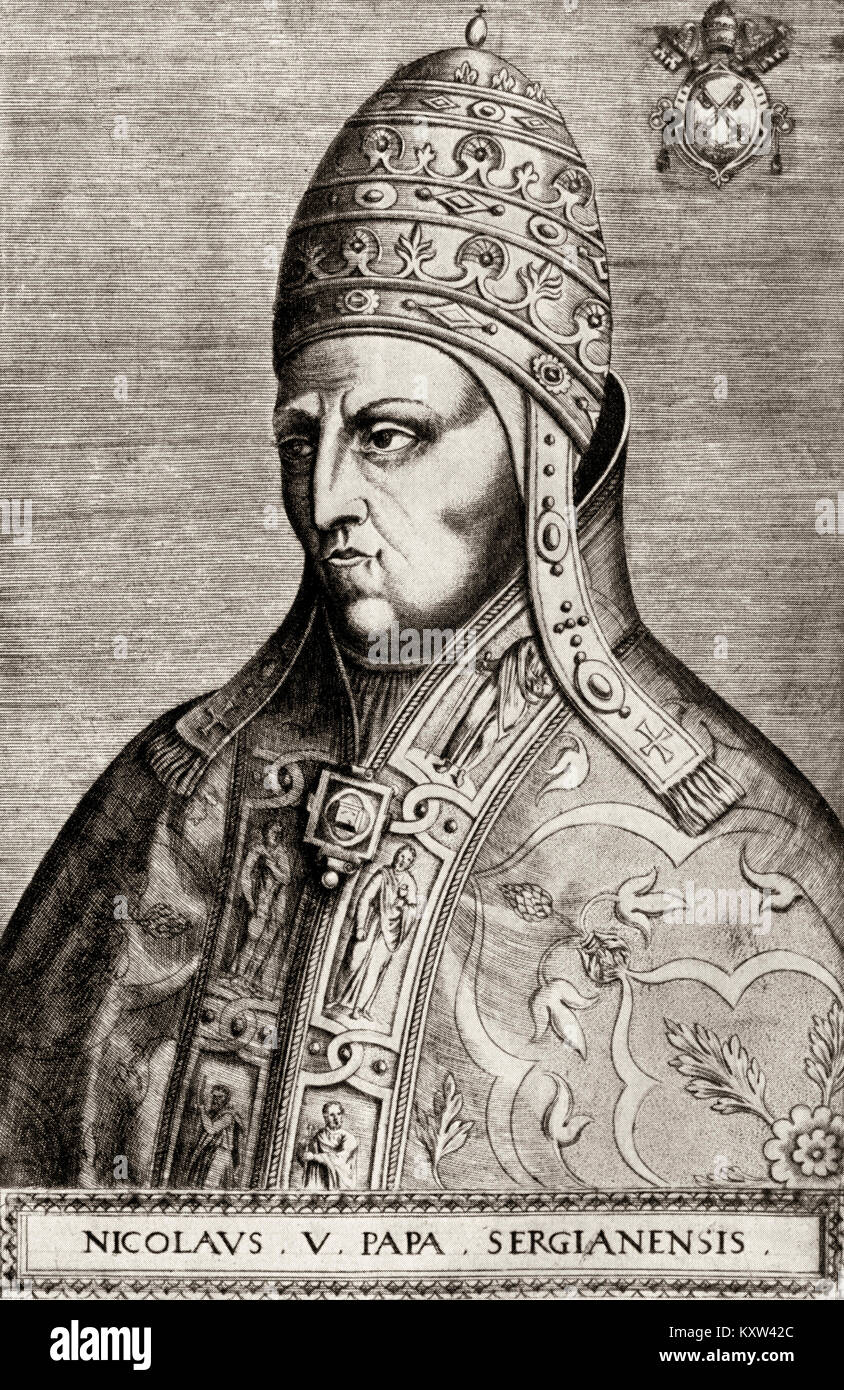 Urban VI, was Pope from 1378 to his death in 1389 - Stock Image