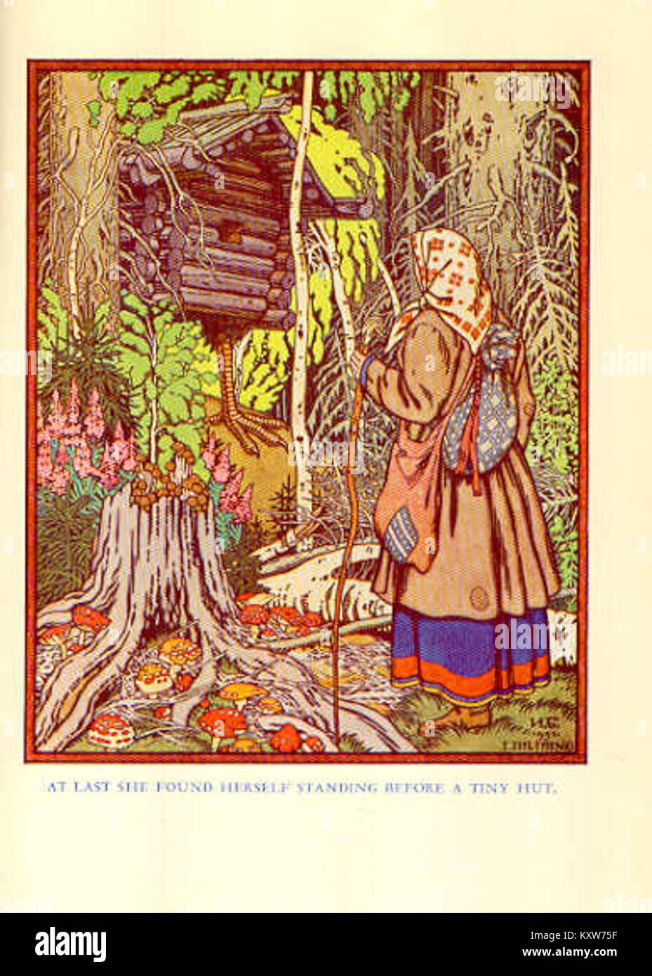 Frances Carpenter. Tales of a Russian Grandmother (Bilibin) - vFeather of Finist the Falcon - Stock Image