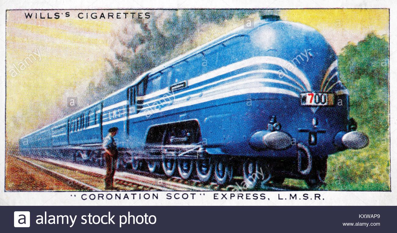 Coronation Scot Express L.M.S.R. - Stock Image