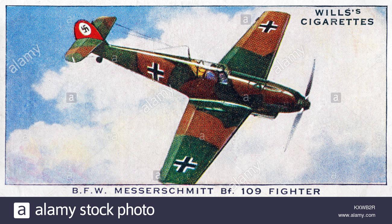 B.F.W. Messerschmitt Bf 109 Fighter - Stock Image