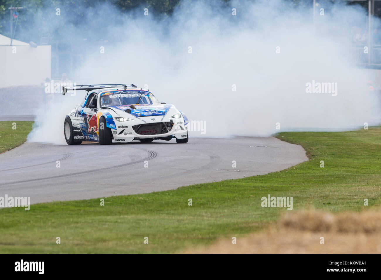 Mad Mike Drifting at Goodwood Festival of Speed - Stock Image