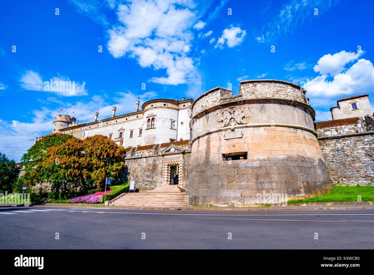 Trento Trent - Castello del Buonconsiglio Castle Trentino Alto Adige Italy - Stock Image
