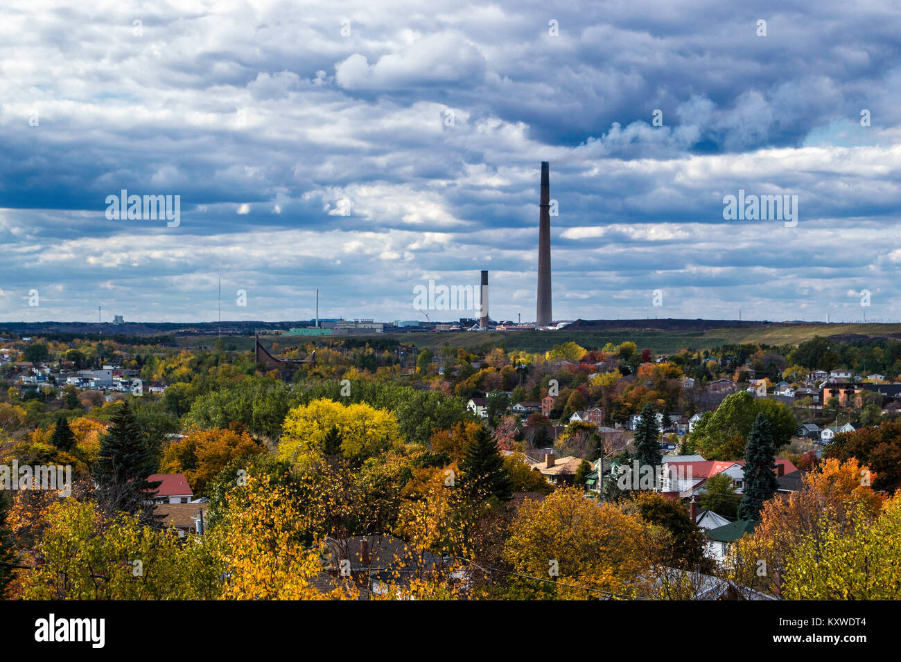 this landmark is visible for many miles - Stock Image