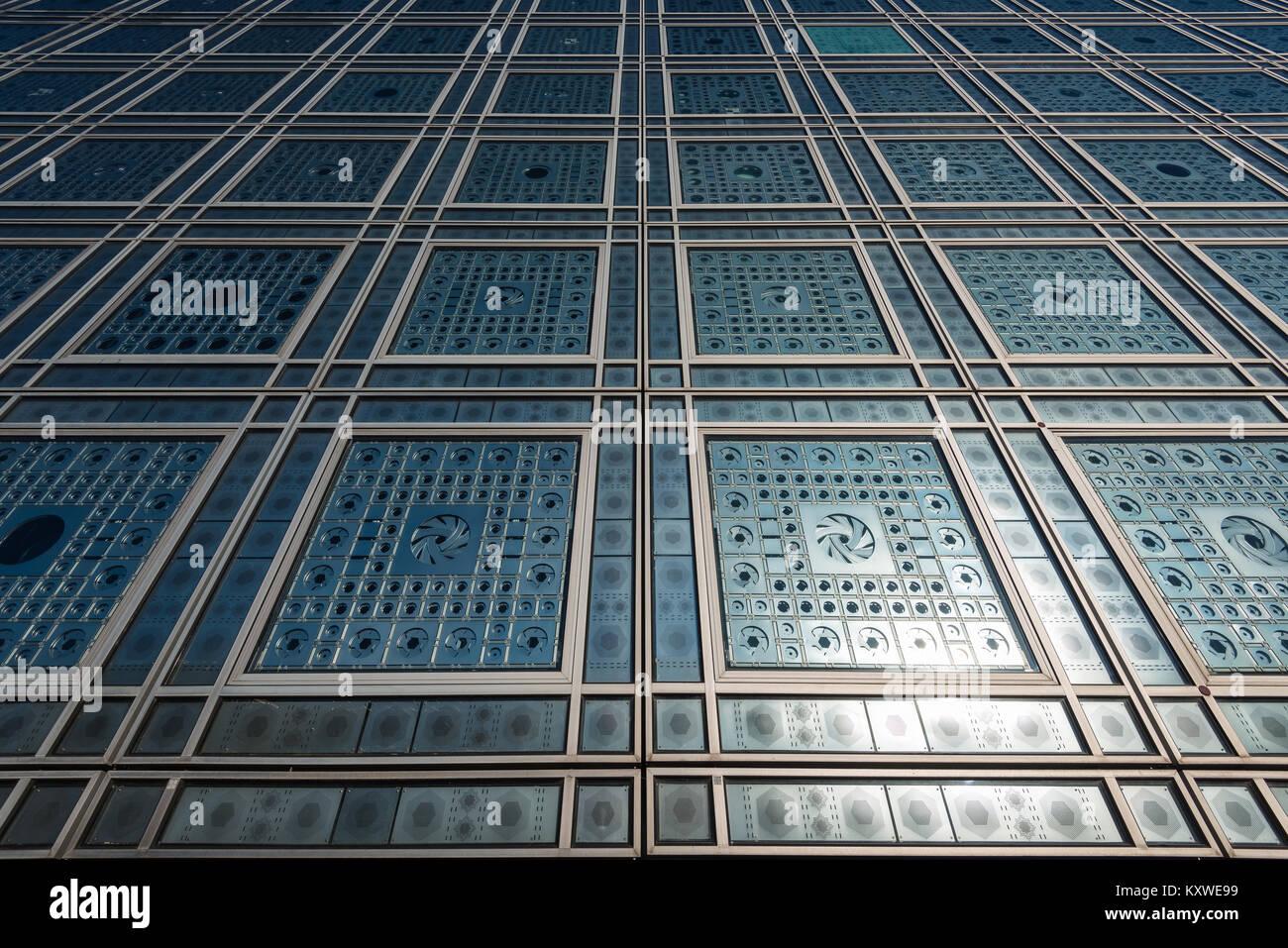 Arab World Institute (Institut du Monde Arabe) in Paris, France - Stock Image
