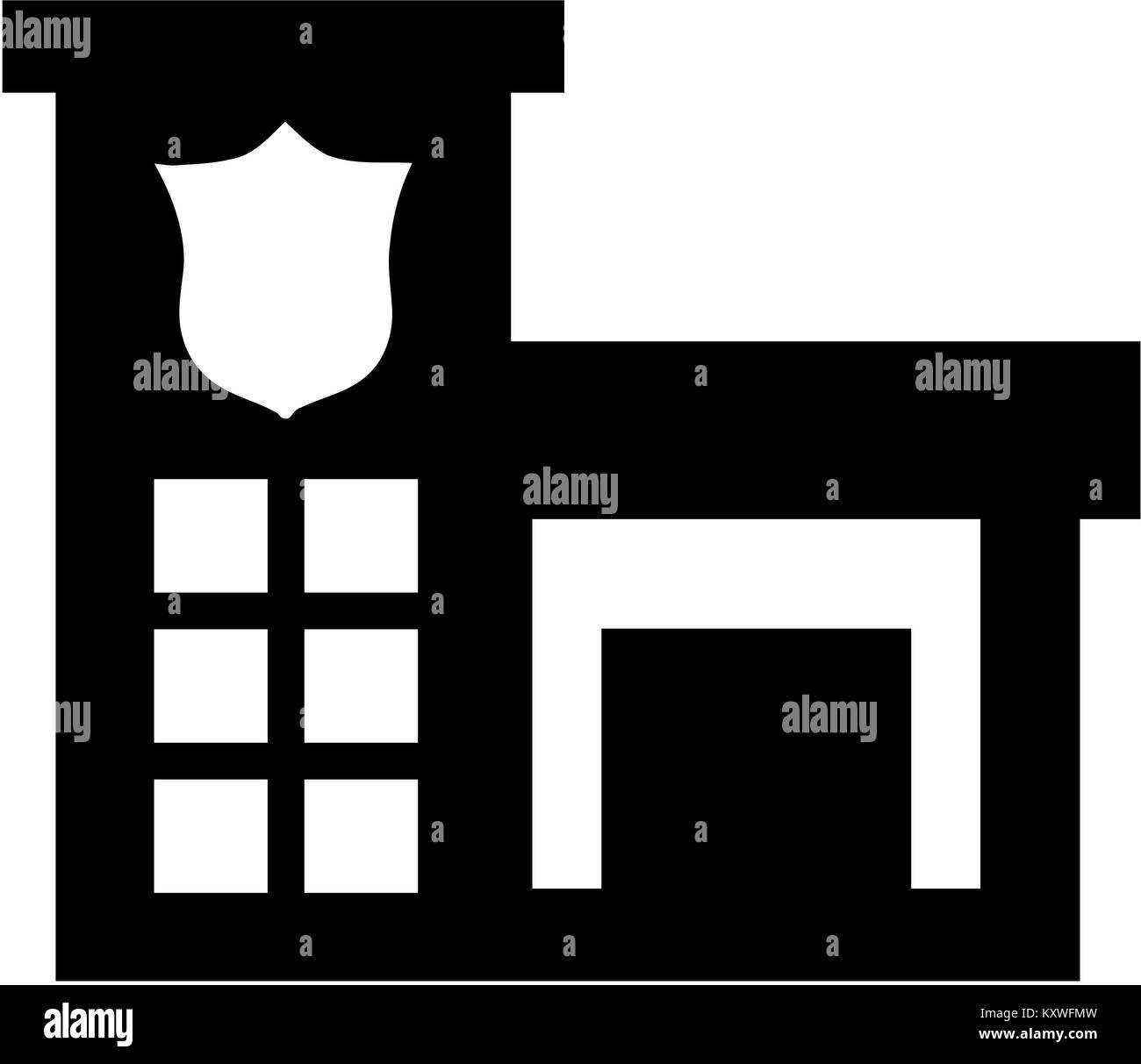 Police Station Black And White Stock Photos Images Alamy