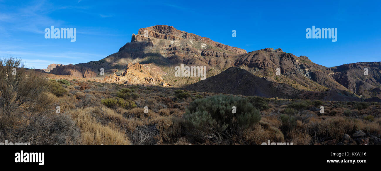 Panoramic views of Tenerife which show volcanic activity - part of a series - Stock Image