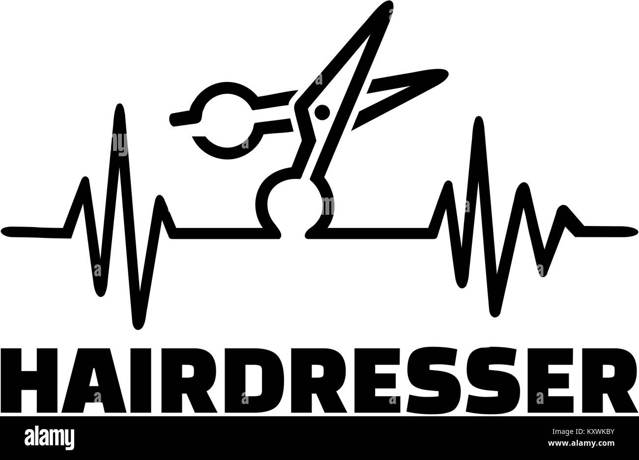 Hairdresser frequence - Stock Image