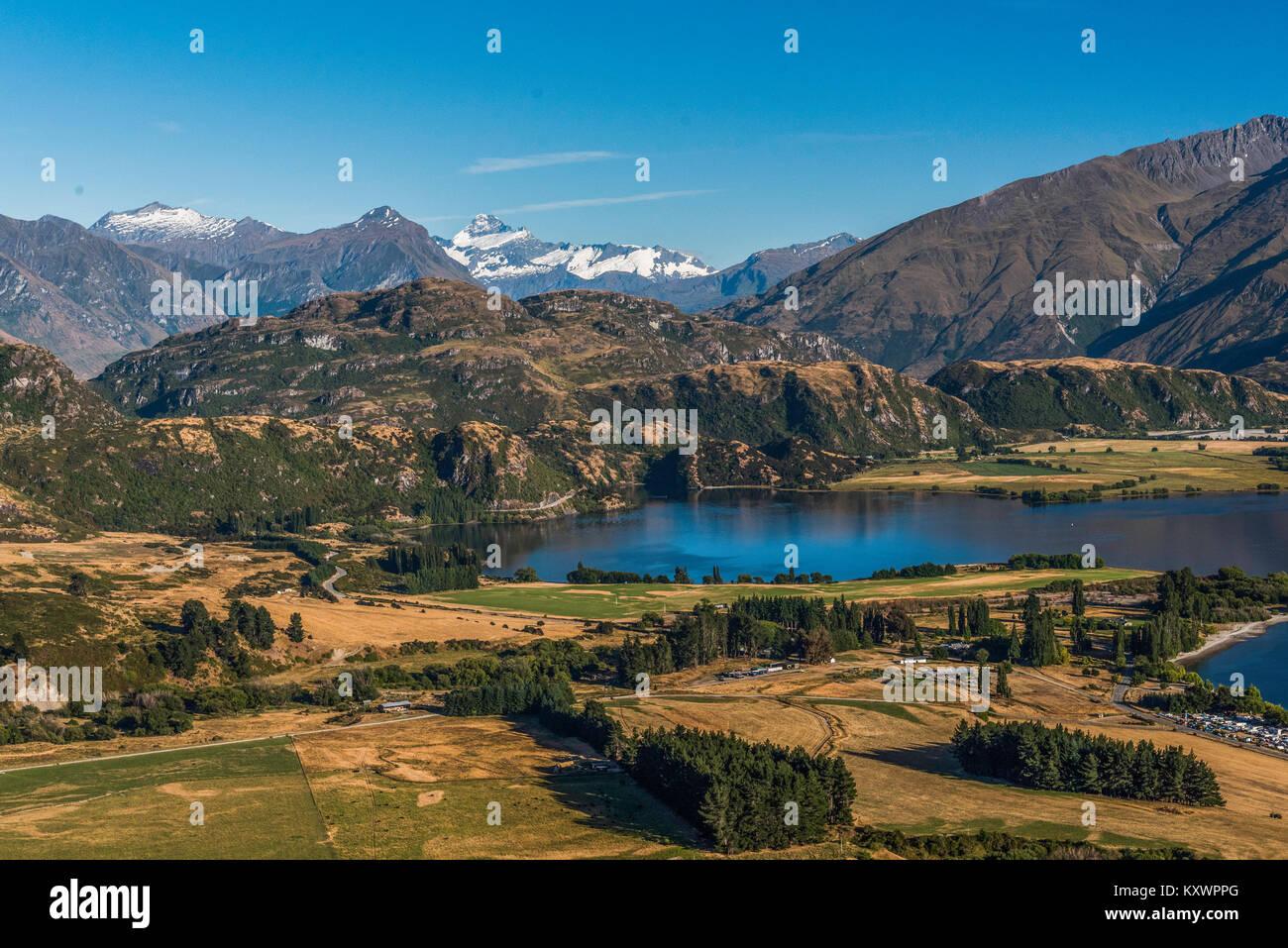 landscape west of Lake Wanaka, Otago, New Zealand - Stock Image