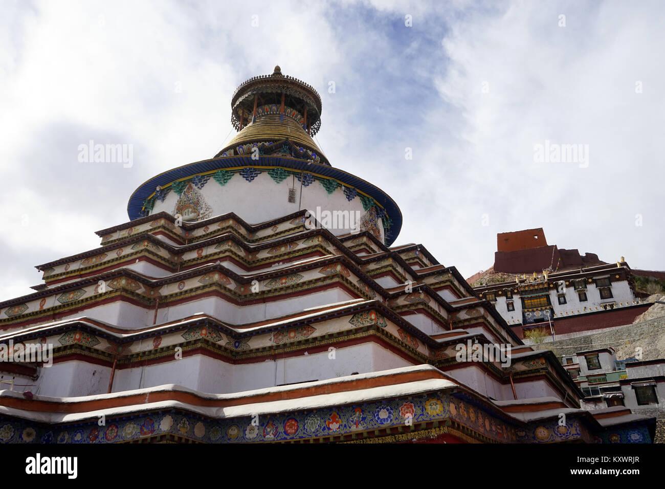GYANTSE, CHINA - CIRCA MAY 2017 Stupa in Gyantse monastery - Stock Image