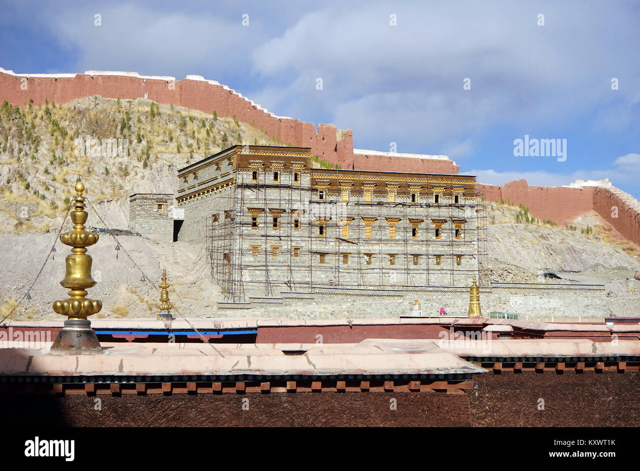 GYANTSE, CHINA - CIRCA MAY 2017 Temple in Gyantse monastery - Stock Image
