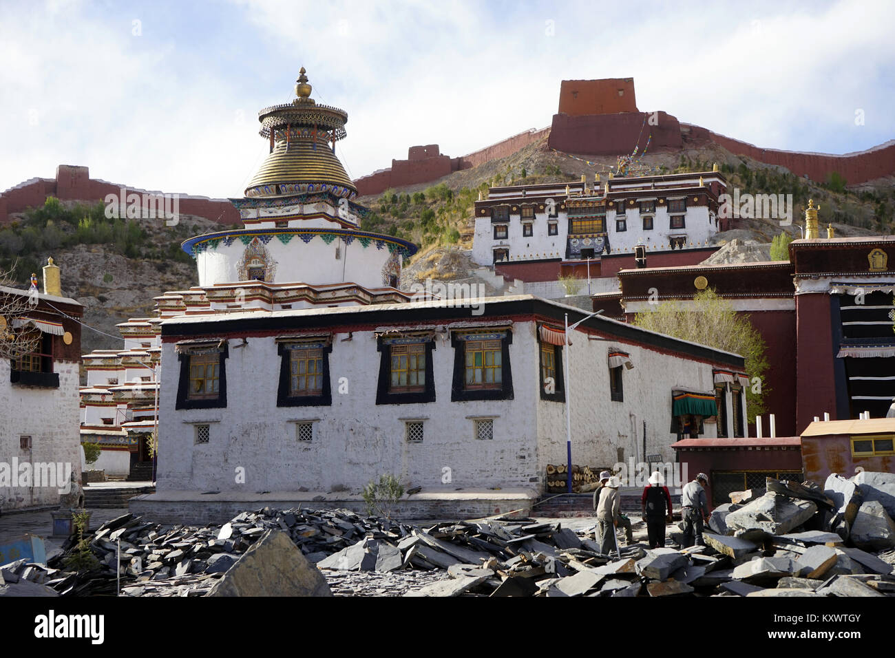 GYANTSE, CHINA - CIRCA MAY 2017 Inside Gyantse monastery - Stock Image