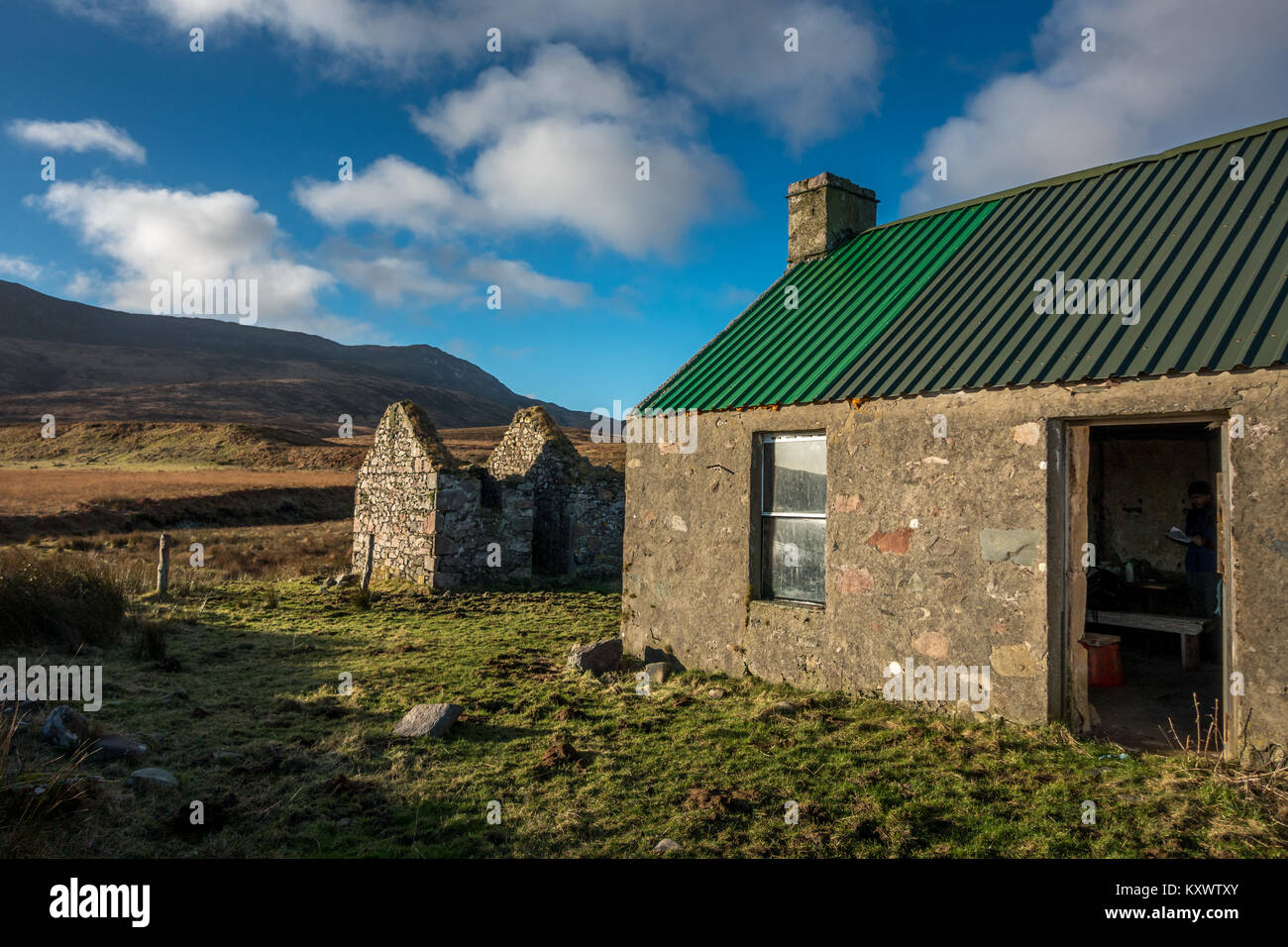Landscape outside Proaig Bothy and ruined settlement, near Ardtalla, Isle of Islay, Scotland - Stock Image