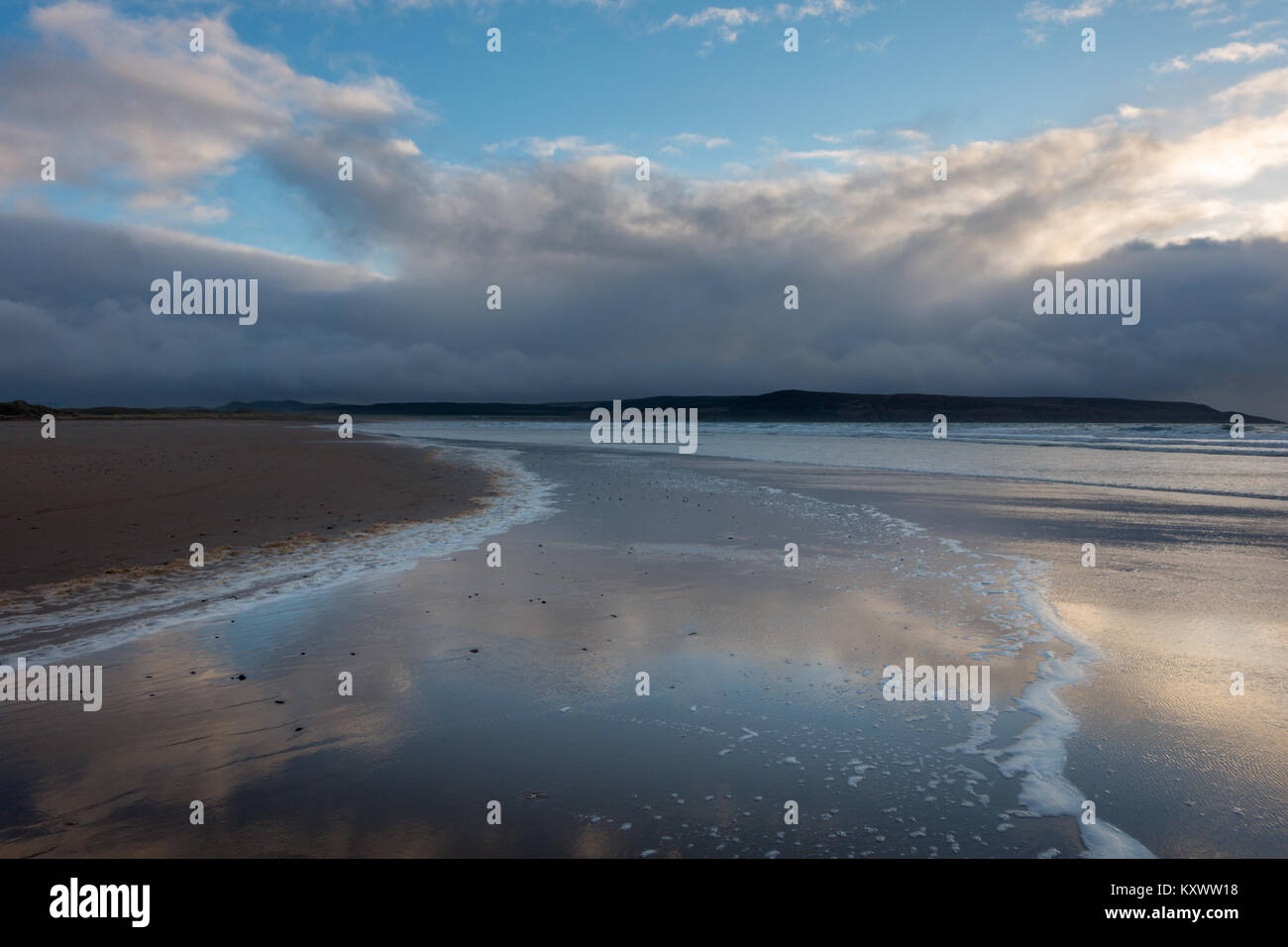 Big Strand beach in beautiful light, Isle of Islay, Scotland - Stock Image