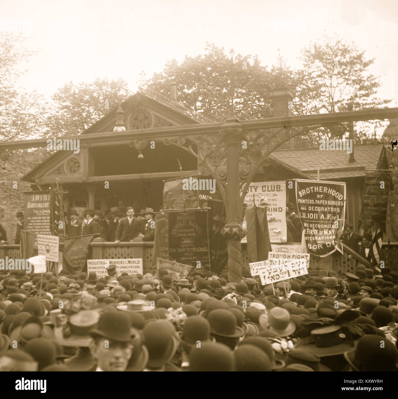 Socialist Rally in Union Square, New York - Stock Image