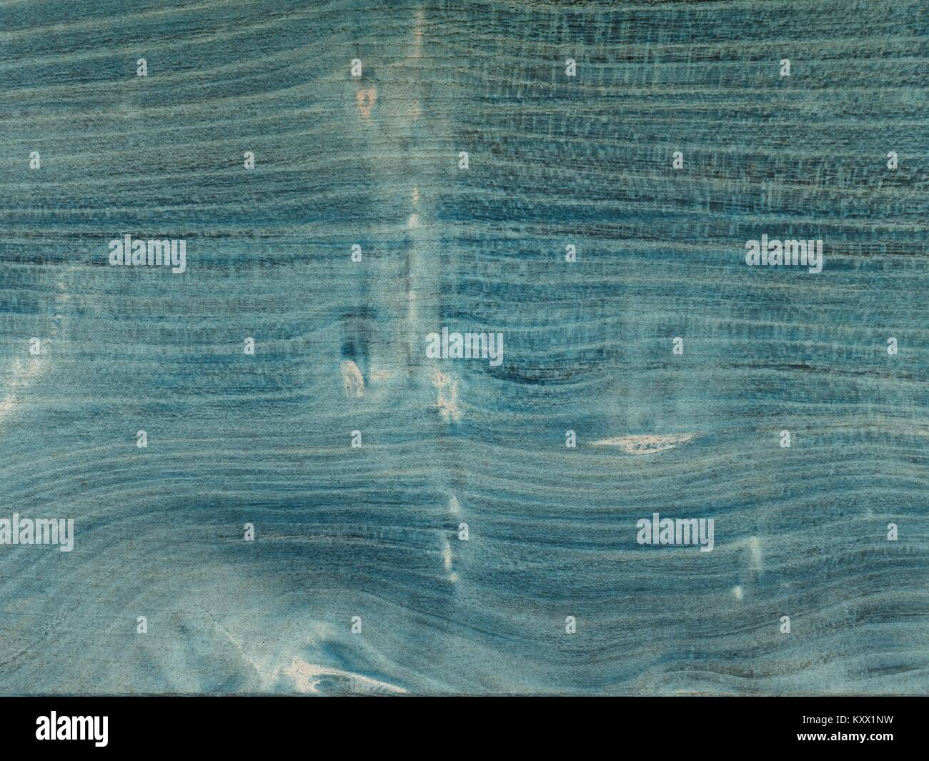 Aged wooden planks  with gentle texture  of annual rings. Wooden surface moored into navy blue color, - Stock Image