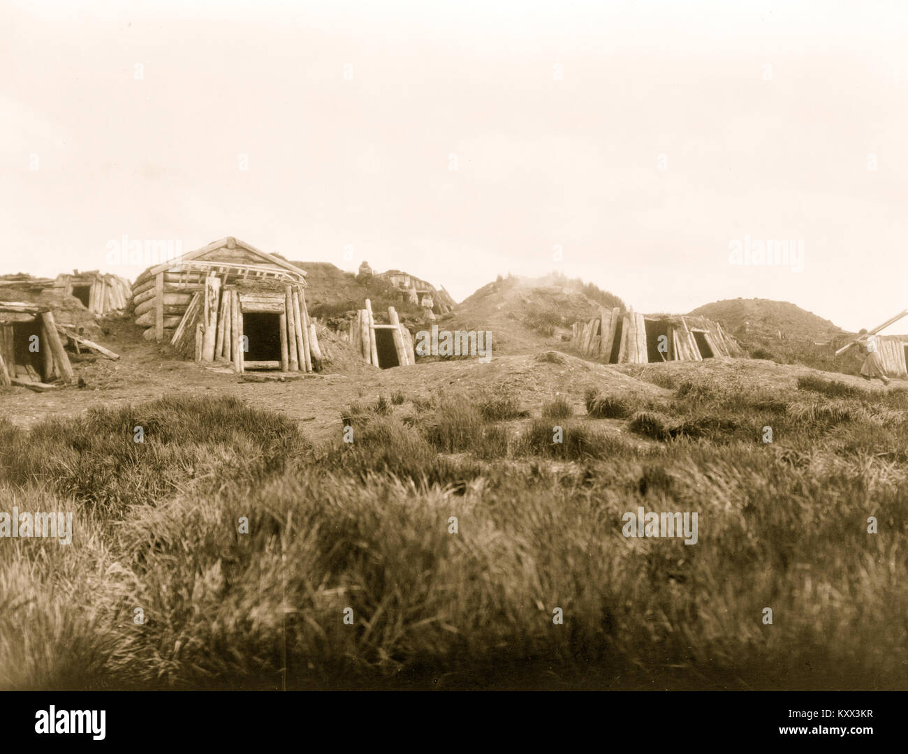 Hooper Bay homes, Hooper Bay, Alaska - Stock Image