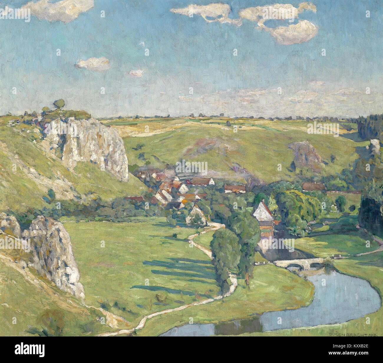 Eugen Bracht Schwäbisches Dorf 1918 Stock Photo