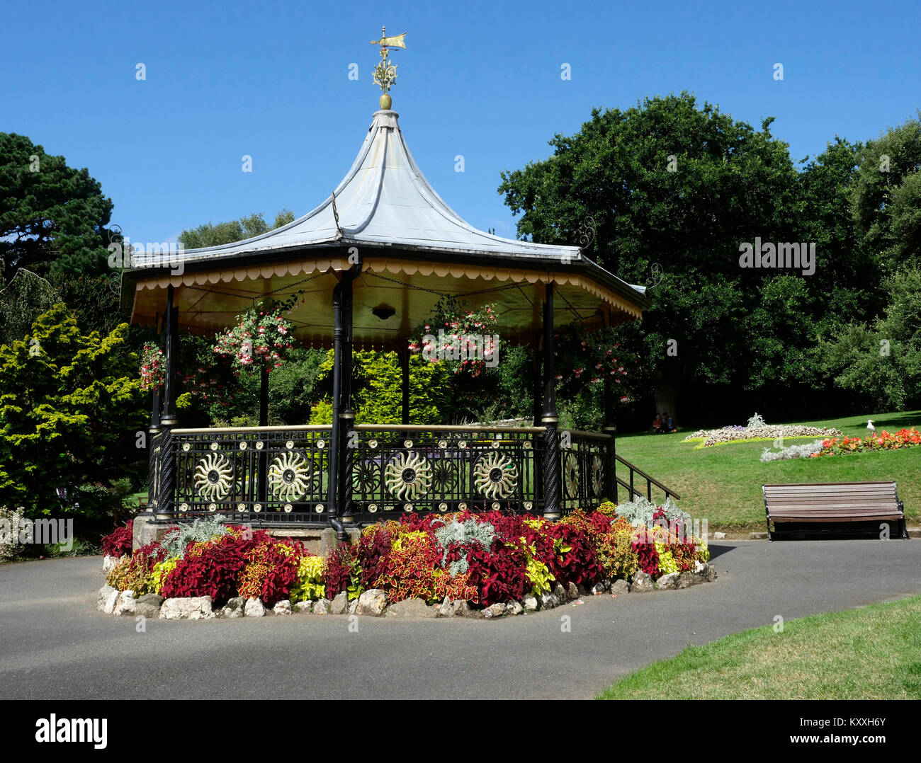 The Bandstand, Victoria Gardens, Truro, Cornwall, England, UK - Stock Image