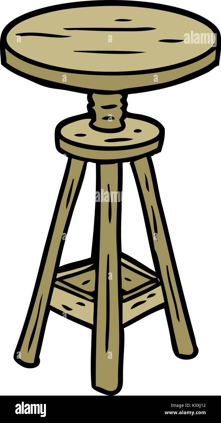Cartoon Adjustable Artist Stool   Stock Image