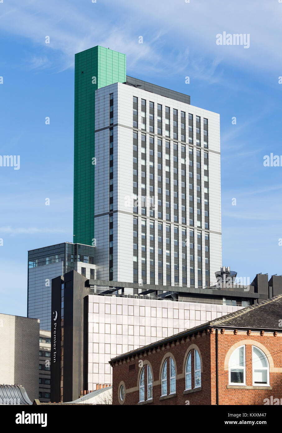 High rise building in Leeds city centre. Yorkshire. UK - Stock Image