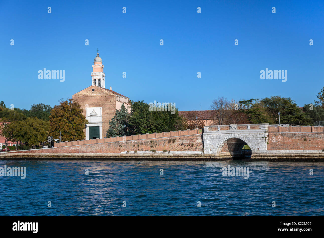 Motorized traffic and water taxis along the Grand Canal in Veneto, Venice, Italy, Europe, - Stock Image