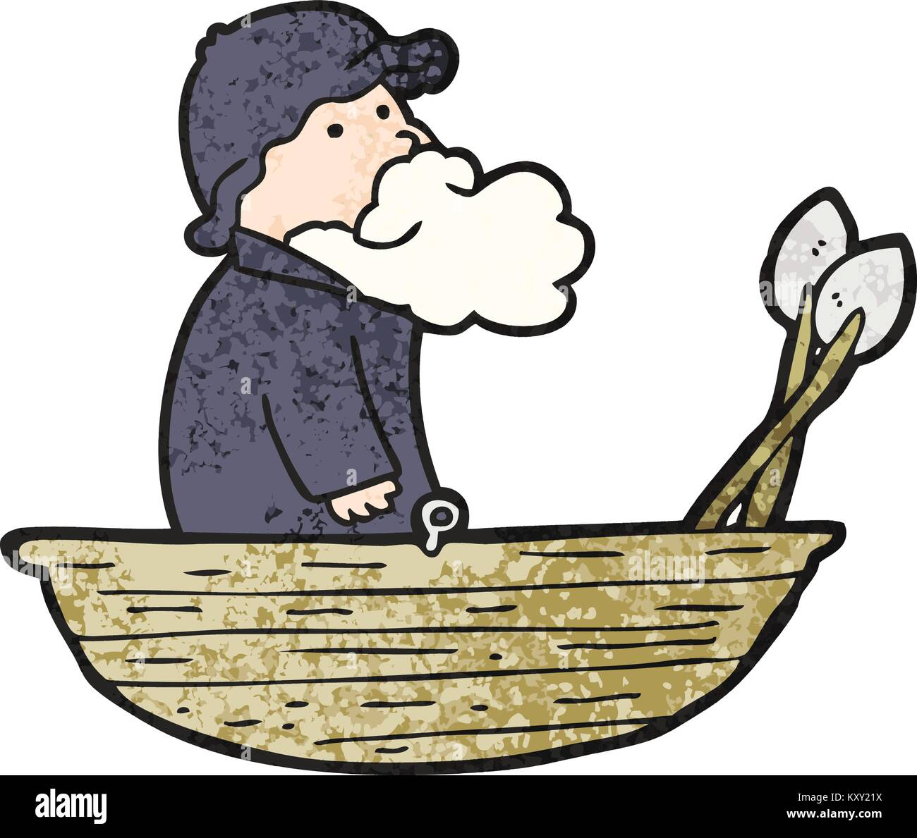 Fisherman Boat Cartoon High Resolution Stock Photography And Images Alamy