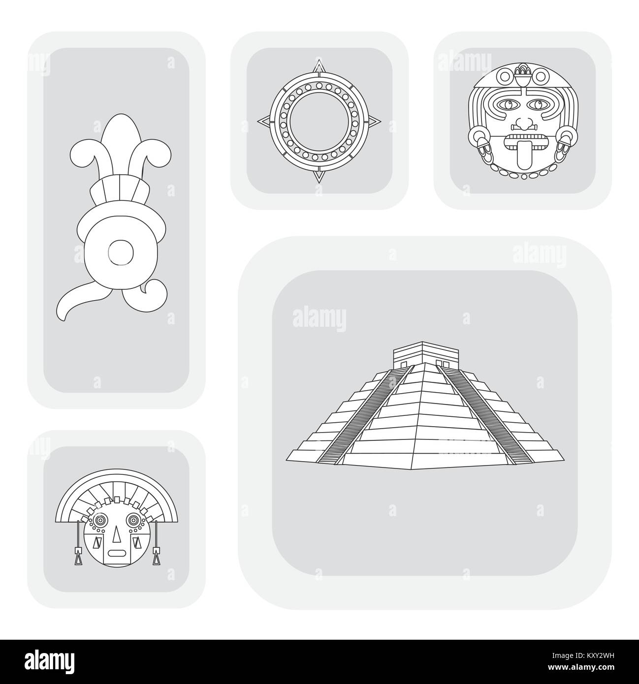 Mayan Culture Cut Out Stock Images & Pictures - Alamy