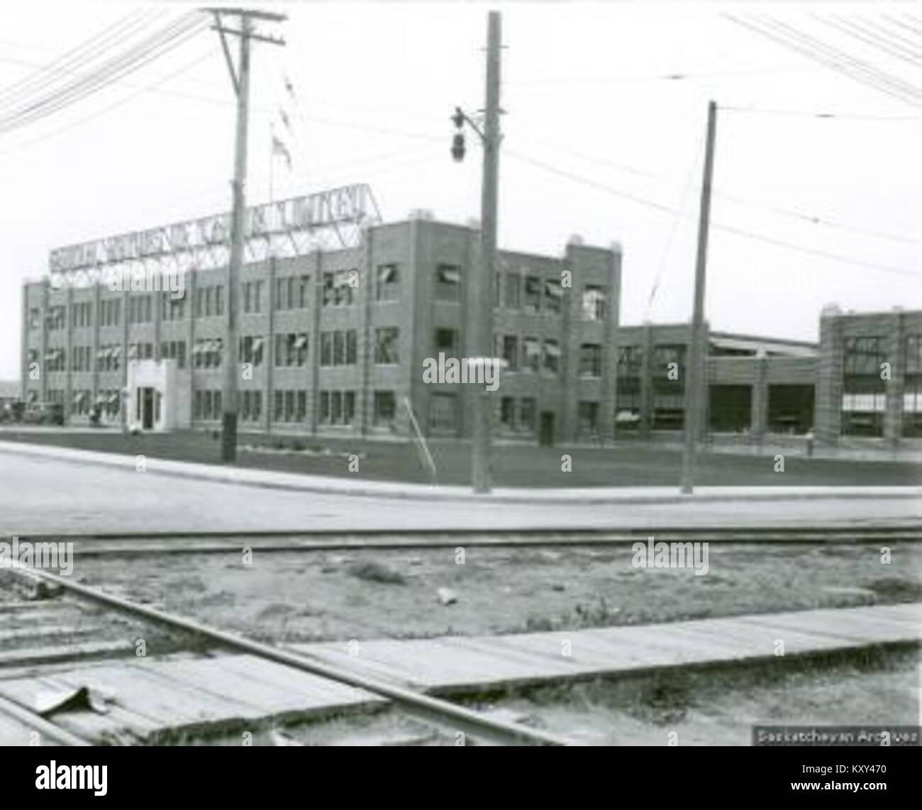 General Motors factory, Regina, 1928 - Stock Image