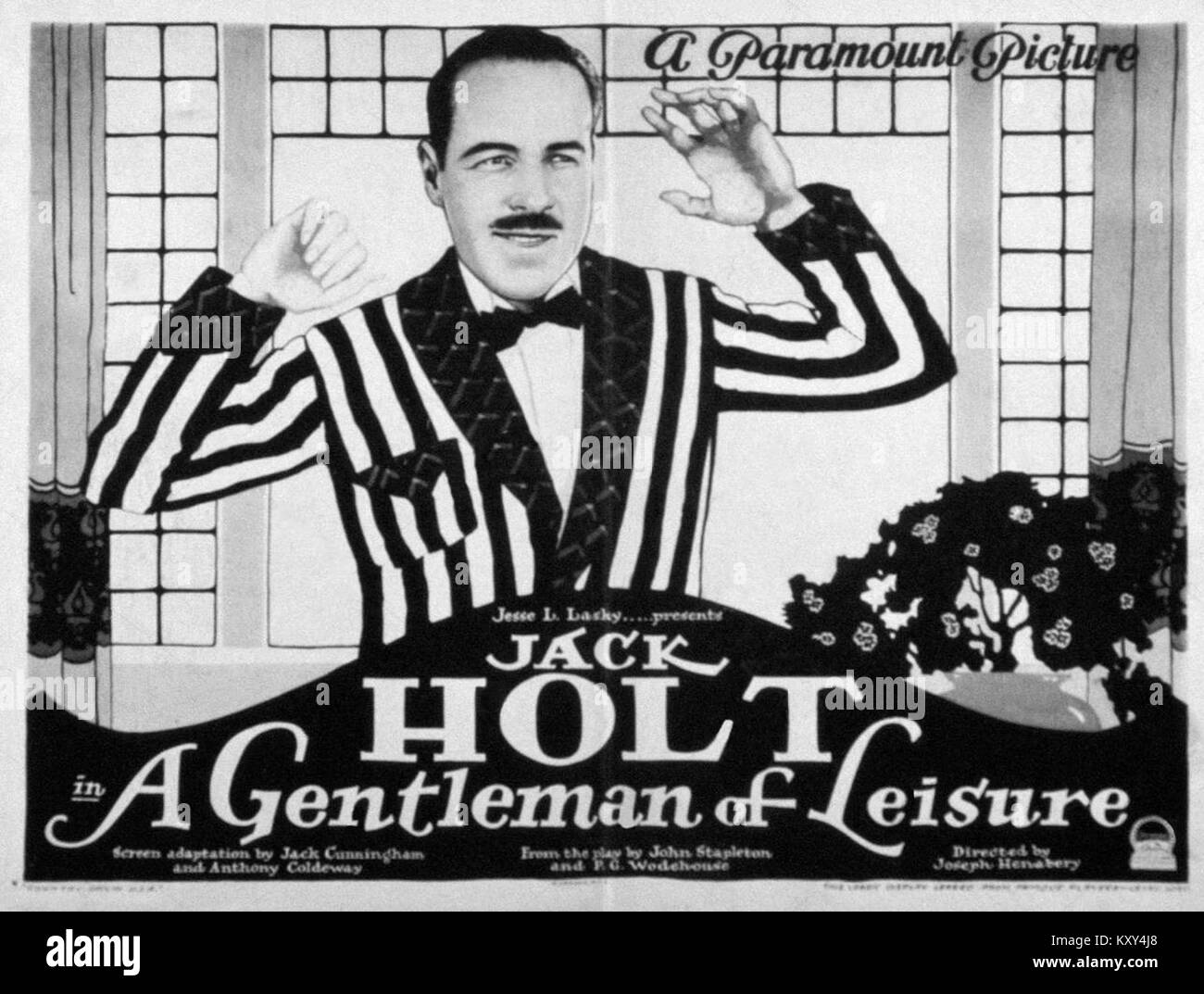 Gentleman of Lesiure lobby card - Stock Image