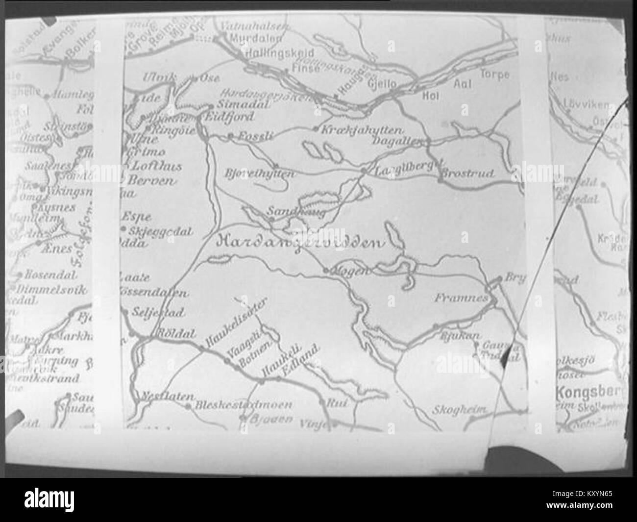 Karta Aten.Hardangervidda Karta Stock Photo 171483709 Alamy