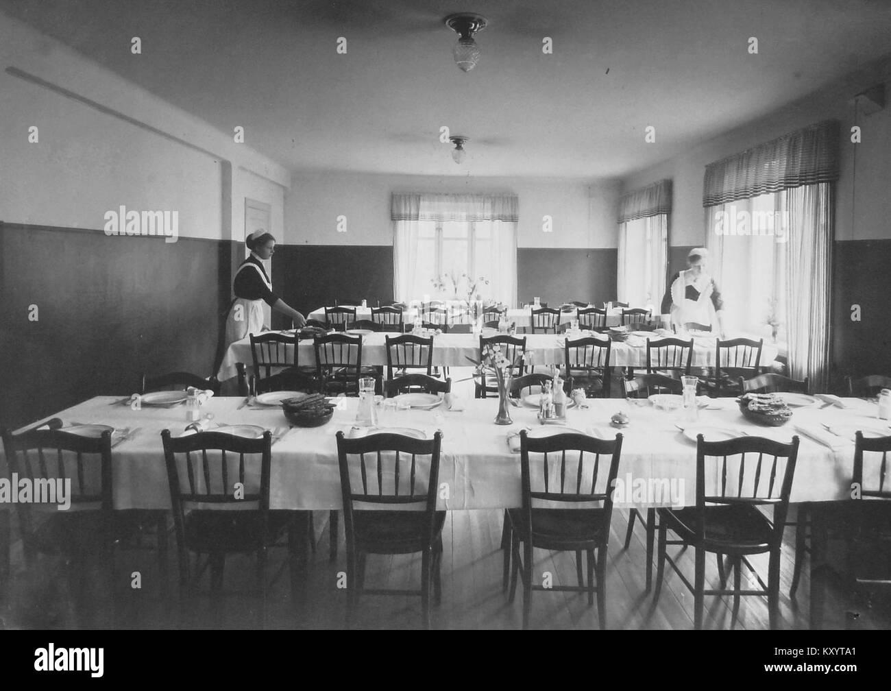Hemmet för gamla matsal 1920-tal - Stock Image