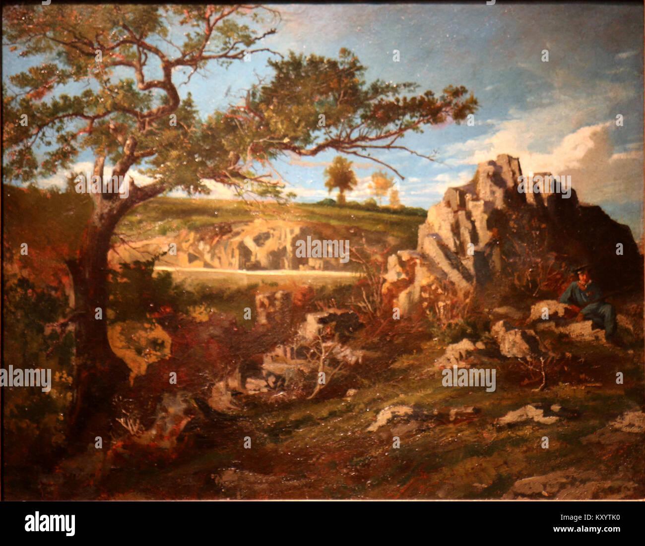 Henri Harpignies-Paysage provençal - Stock Image