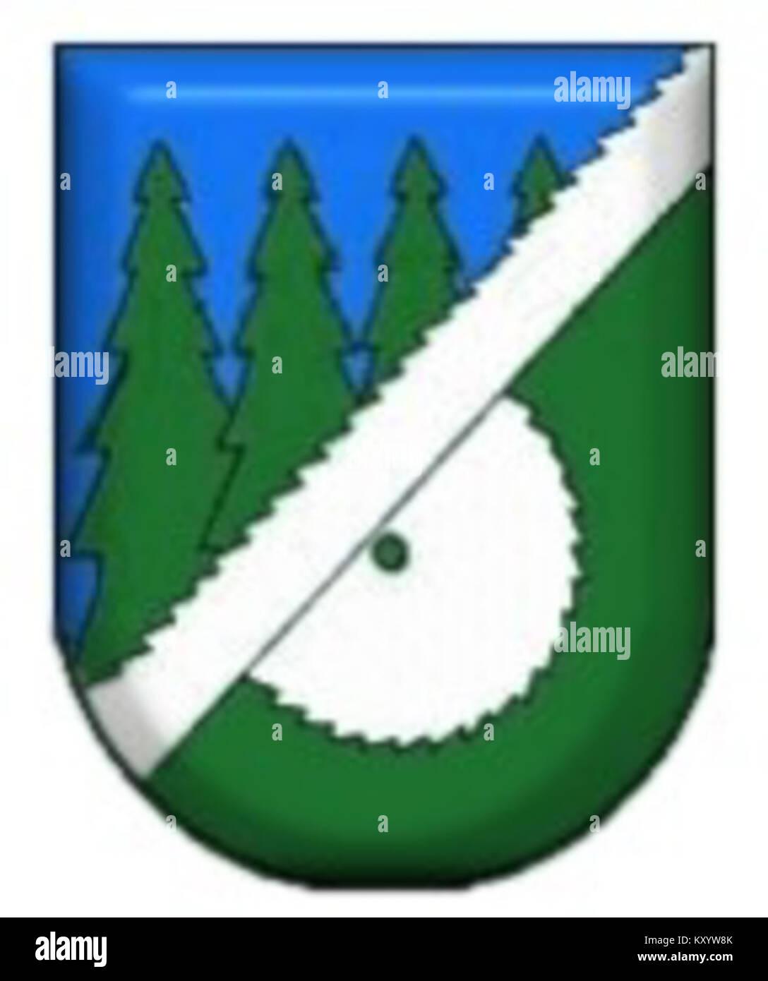Herb miasta Hajnówka - Stock Image