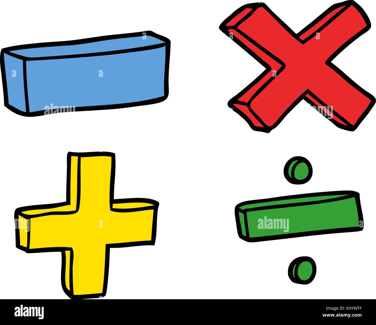math symbols cut out stock images   pictures alamy rainbow vector image rainbow vector image