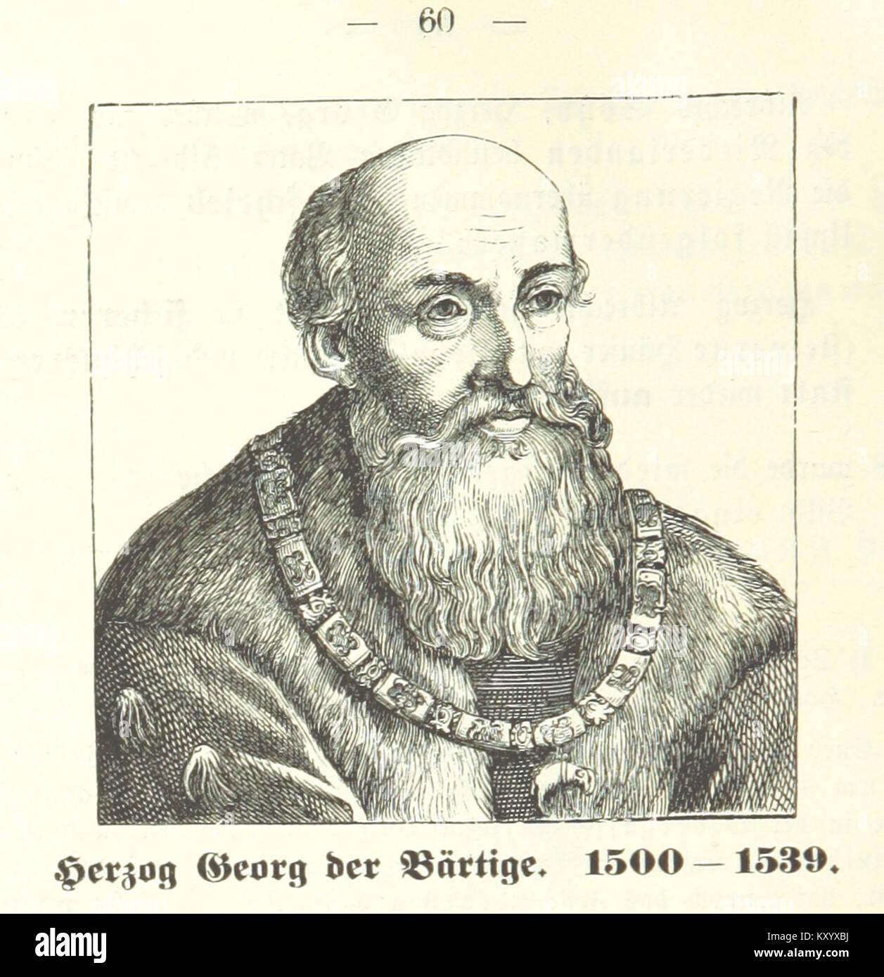 Herzog Georg der Bärtige 1500-1539 - Stock Image