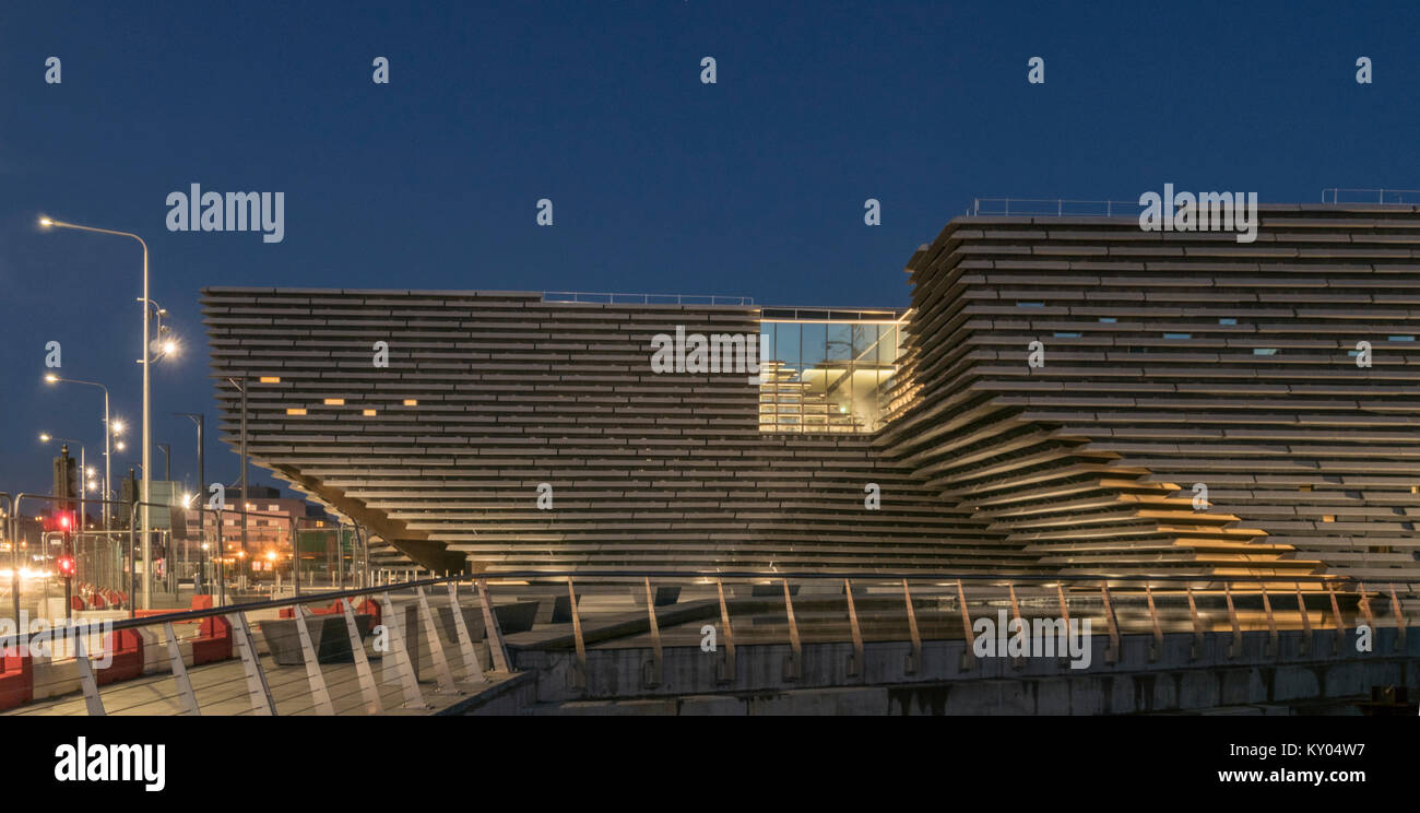 The V&A design museum is part of the waterfront development scheme in Dundee, Scotland, UK. - Stock Image